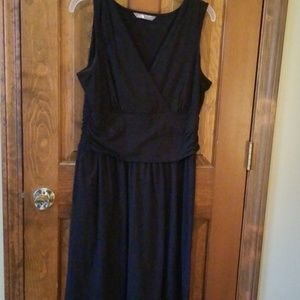Tank style dress with wide traps.